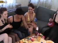 Stockings porn video featuring Yani A, Mandy Dee and Venera