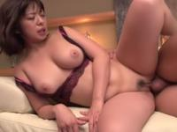 Winsome buxomy Japanese Wakaba Onoue in real hard fuck video