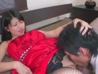 Unbelievable flat chested Japanese teenage gal featuring hot handjob sex video