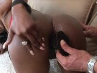 Divine busty ebony Nyomi Banxxx pounded by a black dick
