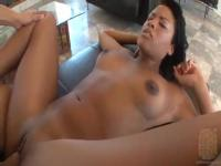 Young beautiful natural black girl fucks well