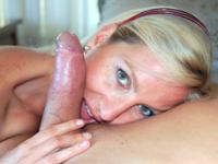 Preppy blonde MILF cuckolding her husband