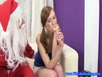The lollipop and the dick of Santa Claus