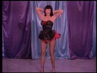 Bettie Page, pin-up model in the vintage era