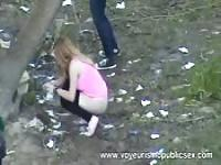 Hidden cam captures girls peeing