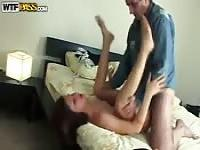 Teen gets dad fucked