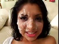 Indian babes cum covered face