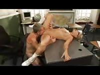 Teacher slut fucks on desk