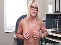 Mature Canadian office babe