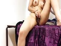 Indian amateur wife working on a stiff dick