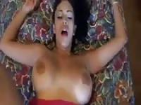 Busty Colombian babe fucked