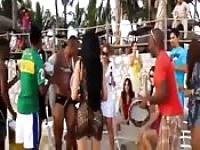 Thai beach party gets naughty