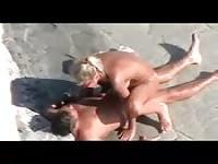 Blonde fucked under the sun