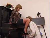 MILF piano teacher fucks her teen student