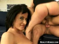 Deepthroat sex video featuring Renato, Megane and Cecilia Vega