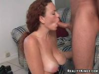Large natural tits sex video featuring Brett and Kandis