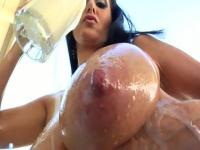 Beautiful brunette Ava Addams receiving a cumshot