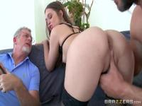 Bonny dusky wife Riley Reid blows the cock