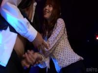 Cute oriental Akiho Yoshizawa like to have a cum shot in her mouth in public place