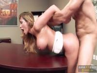 Spicy buxomy Destiny Dixon is getting cumshot in office