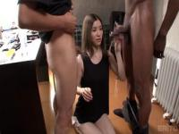 Gorgeous Japanese teenage tart Yuria Ashina making a happyending in her mouth