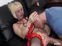 Honey platinum EU experienced female gets her ass drilled very hard