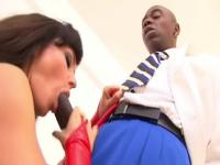 Nice busty Lisa Ann receiving a cumshot