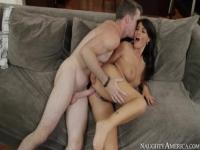 Heavenly stubbly EU Ava Dalush giving an amazing deep throat blowjob