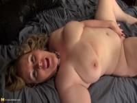 Fine-looking buxomy experienced lady having a passionate masturbation