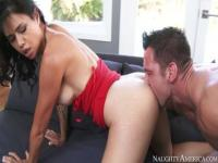 Incredible hairy oriental Dana Vespoli is blowing my cock