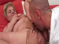 Unbelievable stubbly old female perfroming in fetish sex video