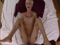 Gorgeous tattooed whore featuring nice facial cumshot porn movie