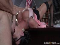 Classy dusky latin mom Ariella Ferrera giving a great blow job
