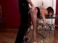 Divine busty German mature female featuring real BDSM action