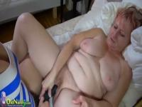 Ambrosial mature lady having a wonderful time by Masturbating