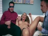 Pornstar sex video featuring Charles Dera, Keiran Lee and Nicole Aniston