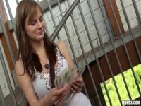 Delightful European teen Charlotte Madison