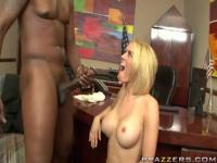 Interracial porn video featuring Lexington Steele and Krissy Lynn