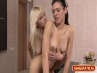 Charming bushy German Mia Magma in beautiful lesbian sex video