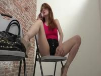 Beautiful ginger Abbey Rain allows guy to cum inside