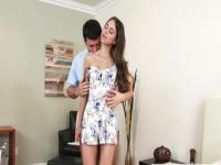 Pleasing dusky Riley Reid giving an amazing footjob