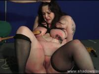 Fat slaveslut Emma tit tortured and breast whipping of bbw