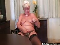 Granny is horny enough to masturbate