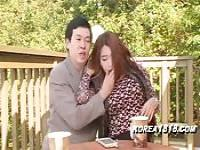 Young asian sex with a mature man