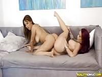 Busty brunette beauties are amazing lesbians