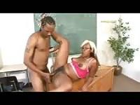 Ebony whore teacher fuck