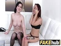 Sexy lesbians playing