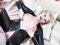 Latex Catsuit POV