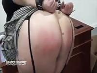 Submissive babe get her ass whipped