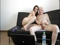 Old man fucks a young babe